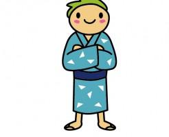 浴衣 男の子 着方